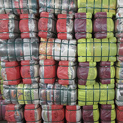 Second-hand clothes bales